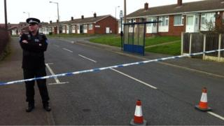 Street cordoned off