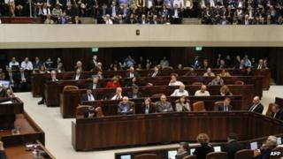 The Knesset in session
