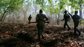 Maoist rebels train with guns in Chhattisgarh