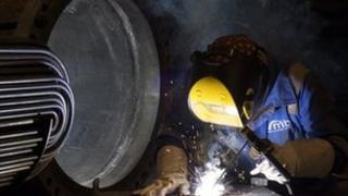 Engineer welding