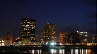 Skyline in Dayton, Ohio