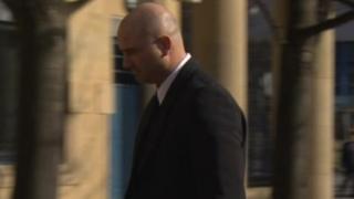 Graham Holroyd arriving at court