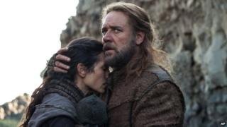 Jennifer Connelly and Russell Crowe in a scene from Noah