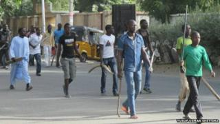 Self-defence groups in Maiduguri (14/03/14)