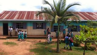 Church of Uganda school, Mukono, solar power computer project