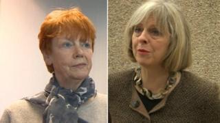 Vera Baird and Theresa May