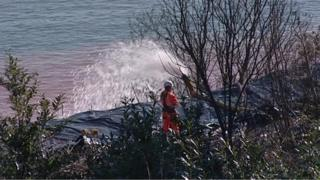 Dawlish controlled landslip work