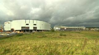 Pride Park stadium and The Sanctuary