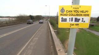 Police appeal sign on Obridge Viaduct