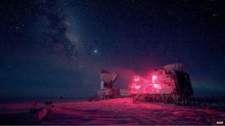 South Pole Telescope facility