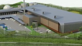 Artist's impression of recycling centre