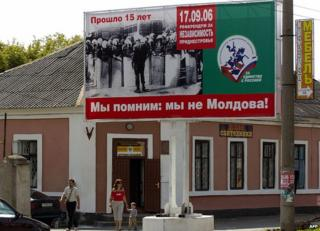 Pro-Russian sign in Trans-Dniester