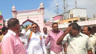 Shashi Tharoor campaigning in Kerala