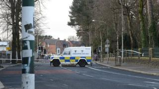 The attack took place on the Falls Road in Belfast on Friday night