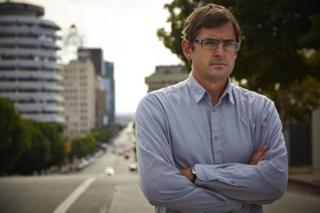 Louis Theroux standing on Sunset Boulevard