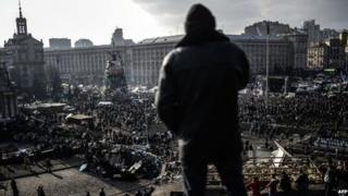 Anti government protesters attend a rally on Independence square