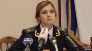 Natalia Poklonskaya at a press conference