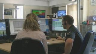 Police control room