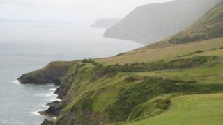 Ceredigion coast path near Llangrannog