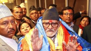 PM Koirala being congratulated