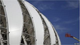 Porto Alegre's Beira Rio stadium, Brazil