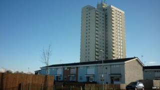 Milldane tower block on Orchard Park estate, Hull