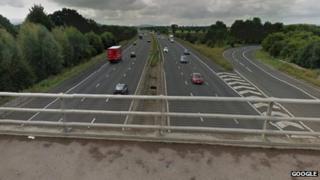 Piffs Elm Bridge over the M5 at junction 10