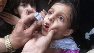 A vaccination campaign in Peshawar, Pakistan