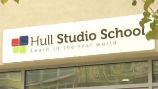 Hull Studio School sign