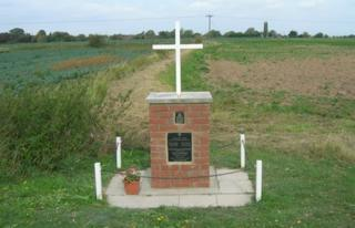 Memorial in Bicker where a Lancaster crashed