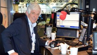 Peter Allen in BBC 5 live studio
