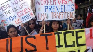 Domestic workers protest