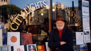 Lawrence Ferlinghetti, one of the owners of City Lights bookstore