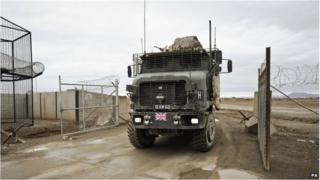 British military vehicle at Camp Bastion