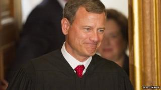 John Roberts smiles at the White House on 7 August, 2010.