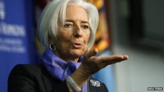IMF managing director, Christine Lagarde