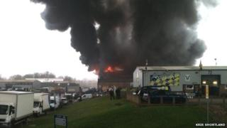 Fire at Leyland Industrial Estate