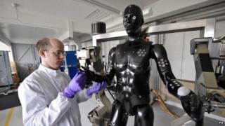 The Porton Man robot mannequin