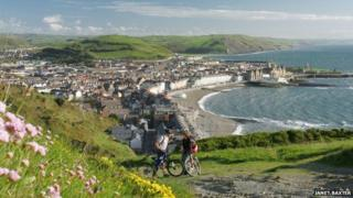 Aberystwyth from constitution hill