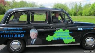 Byron Davies's black cab
