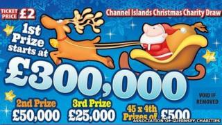Channel Islands Christmas Lottery 2013 tickets
