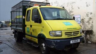 Van used for kerbside recycling collections in Guernsey