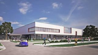 Artist's impression of leisure centre