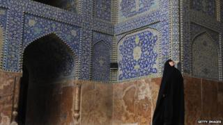 A woman at Imam mosque in Esfahan