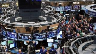 The floor of the New York Stock Exchange on 28 March, 2014.