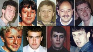 Clockwise from top left: David Birtle, Nicholas Hewitt, Alan McGlone, Andrew Brookes, Paul Brady, Joseph Clark, Stuart Thompson, Andrew Sefton, Carl Hewitt
