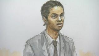 Court sketch of Hussain Hussain