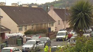 Police cordon in Fourth Avenue, Teignmouth