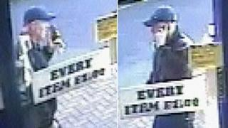 Two CCTV images of a man
