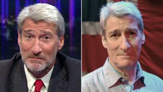 Jeremy Paxman with a beard and without